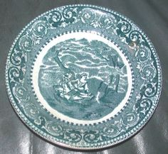 "VINTAGE ROWLAND & MARCELLUS  8 1/8""  BLUE TOILE TRANSFER PRINT BOWL"