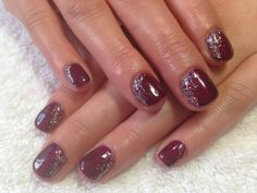 Boysenberry shimmer with diamond glitter