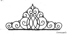 Tiara template for cake topper
