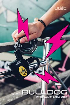 Ulac le câble Bee Cycle Lock 110DB avec alarme