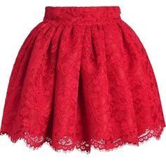 ideas dress skirt red for 2019 Red Skirts, Cute Skirts, Short Skirts, Skater Skirts, Black Floral Skirt, Floral Print Skirt, Floral Skirts, Floral Lace, Skirt Outfits