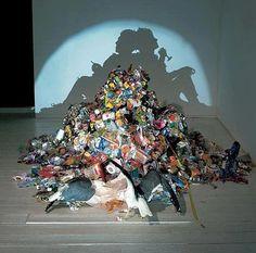 Kunstwerk afval