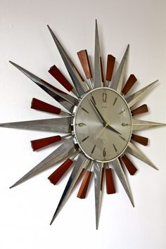 Metamec Starburst Wall Clock circa 1960′s