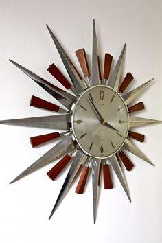 Metamec Starburst Wall Clock circa 1960′s