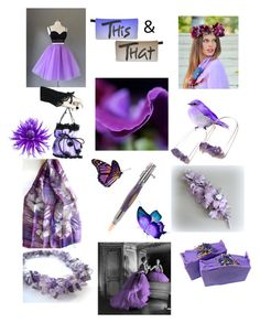 """""""This and That in Purple"""" by anna-recycle ❤ liked on Polyvore featuring modern, rustic and vintage"""