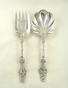 Whiting Lily Sterling Silver Salad Serving Set