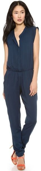 $298, Navy Jumpsuit: Dusk Jumpsuit by Black Halo. Sold by shopbop.com. Click for more info: http://lookastic.com/women/shop_items/18359/redirect