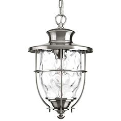 Progress Lighting, Beacon Collection Stainless Steel Outdoor Hanging Lantern, at The Home Depot - Mobile Porch Lighting, Exterior Lighting, Outdoor Lighting, Lighting Ideas, Outdoor Hanging Lanterns, Hanging Chandelier, Water Patterns, Progress Lighting, Light Bulb Bases