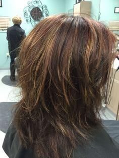 Medium Layered Hair, Medium Hair Cuts, Medium Hair Styles, Curly Hair Styles, Modern Shag Haircut, Medium Shag Haircuts, Corte Y Color, Hair Affair, Hairstyles Haircuts