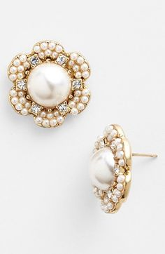 kate spade new york 'park floral' stud earrings available at #Nordstrom - Might work, reminds me of detail on dress.