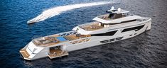 Rosetti Yachts has revealed its latest luxury support vessel which was created in collaboration with Giovanni Griggio of Phi Design Lab. Monaco Yacht Show, Lower Deck, Yacht Design, Super Yachts, Sail Away, Design Lab, New Details, Luxury Yachts, Luxury Travel
