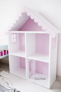 Półka Domek drewniany dla lalek barbie duży design
