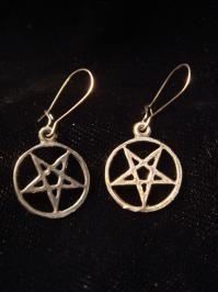 Petite Inverted Pentagram Earrings