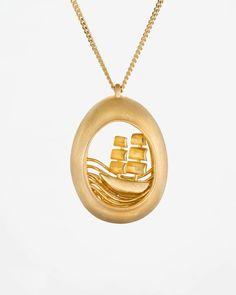 Contemporary Hand Made Jewelry Nautical Necklace, Nautical Jewelry, Gold Pendant Necklace, Art Necklaces, Unique Necklaces, Necklace Designs, Jewelry Stores, Jewelry Design, Diy Jewellery