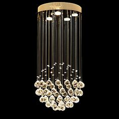 LightMyself+Crystal+Pendant+Light+Modern/Contemporary+Traditional/Classic+Rustic/Lodge+Country+Painting+Feature+for+Crystal+CrystalLiving+Room+Bedroom+–+NZD+$+187.34