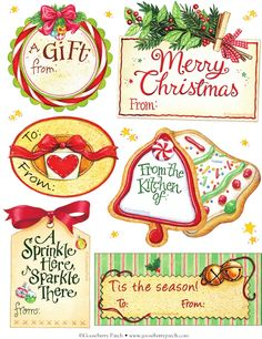 Free Christmas tags to download from Gooseberry Patch!