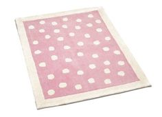 Pink Polka Dot Wool Rug at Laura Ashley Polka Dot Rug, Pink Polka Dots, Childrens Rugs, Childrens Room Decor, Trendy Bedroom, Girls Bedroom, Bedrooms, Laura Ashley Rugs, White Faux Fur Rug