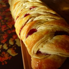This Braided Danish has a tasty ricotta cheese and jam filling.