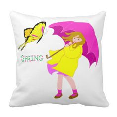 I LOVE SPRING GIFT COLLECTION THROW PILLOW