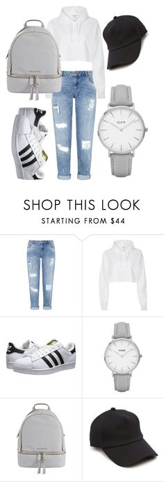 """35"" by calliejenkins ❤ liked on Polyvore featuring Miss Selfridge, River Island, adidas Originals, Topshop, MICHAEL Michael Kors and rag & bone"