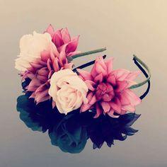 Items similar to Silk Flower Crown - Floral Hair Crown - Flower Hair Crown - Floral Hair Wreath - Silk Flower Wreath - Bridal Hair Band - Roses Hair Crown on Etsy Bridal Hair Flowers, Silk Flowers, Bridal Hair Accessories, Handmade Flowers, Floral Wreath, Feminine, Hand Painted, Boem, Wreaths