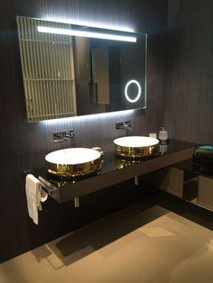 Round gold bathroom sinks