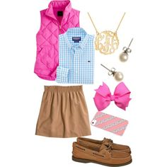 Preppy Outfit...not sure about the pink but on the right person it would look amazing!