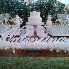E um anjinho segurou o #nome da Valentina nesse lindo #batizado. #festainfantil #lasercutting #laser #batizadomenina #acrilico #acrilicorte by acrilicorte