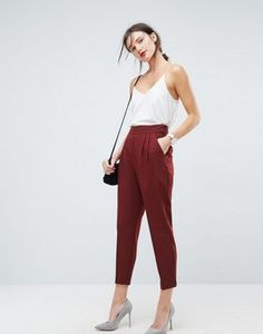 ASOS High Waist Tapered Trousers