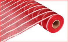 Red Thin White Stripes RE1033F8 Poly Deco Mesh by wreathsbyrobin See more at: https://www.etsy.com/shop/wreathsbyrobin