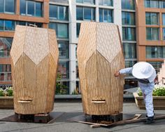 Snøhetta's Vulkan Hives Bring Urban Beekeeping to a Rooftop in Oslo Oslo, Urban Agriculture, Urban Farming, Architecture Office, Landscape Architecture, Architecture Magazines, Architecture Design, Beehive Design, Bee Design