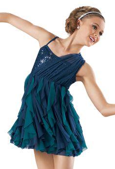 Sequin Two-Tone Cascade Dress -Weissman Costumes