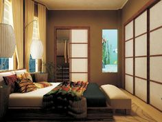 stock photo : Asian themed bedroom interior inside a home | Asian ...