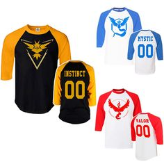 Pokemon GO! Team Shirt (Half Sleeve) - 3 Styles //Price: $15.95 & FREE Shipping //     #pokemonforever