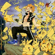 That one pikachu with Kaminari's dunce face XD