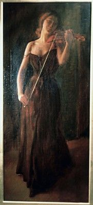 The Violinist by Charles Courtney Curran