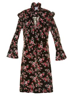Not A Floral Dress Person? This New Trend Might Change Your Mind #refinery29  http://www.refinery29.com/dark-print-floral-dresses#slide-3  Some Doc Martens are all you need to complete this straight-off-the-runway look.Vetements Ruffle-trimmed floral-print dress, $2,025, available at Matches Fashion....