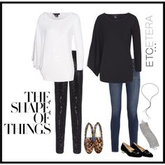 Comfy, chic tops: 'Alps' in white and 'Eclectic in black, with gold zipper detail on draped sleeve, shown with 'Caviar' sequined black legging. Holiday 2014, Alps, Black Leggings, Chic, Caviar, My Style, How To Wear, Soccer, Comfy