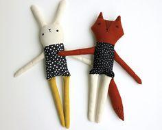 Erbstück-Puppe Stoffpuppe Stoff-Puppe Bunny Puppe von sleepyking