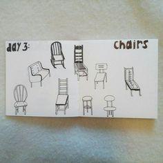 Day 3: chairs #sketchbook #creativebug #lisacongdon