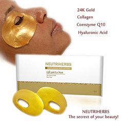 Neutriherbs Nano Gold Collagen Crystal Eye Mask Gold Facial Mask Best Anti Aging Anti Wrinkle Moisturizing Eye Mask For Skin Care * Read more at the image link. Best Anti Aging, Facial Masks, Anti Wrinkle, Dark Circles, Natural Skin Care, Collagen, Crystals, Image Link, Gold