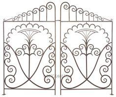french art deco wrought iron interior gates - raymond subes