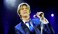 David Bowie performing at the Hammermith Apollo in London in 2003. RIP David.
