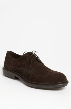 This Salvatore Ferragamo Wingtip Derby is a great all-around casual shoe.       #Nordstrom
