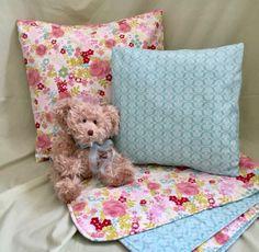 Aqua Nursery, Floral Nursery, Girl Nursery, Playroom Decor, Nursery Decor, Floral Pillows, Shower Gifts, Etsy Handmade, Pillow Covers