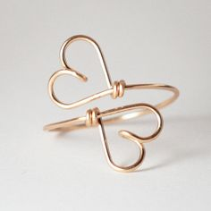 2 HEARTS  Together forever 14K Goldfilled Wire Symbol by KIZZU, €28.00