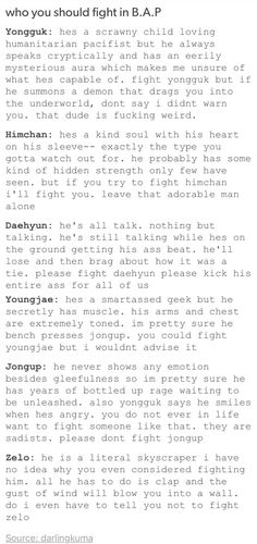 Who not mess with in BAP