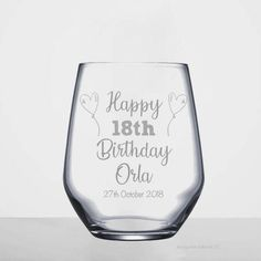 birthday gift, birthday wine glass, gift for her personalised birthday gift, custom birthday glass, birthday gift Happy 60th Birthday, Friend Birthday Gifts, Wine Glass, Glasses, 18th, Eye Glasses, Eyeglasses, Eyewear