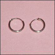 """Tiny, 1/4"""" Tiny Hoop Sterling Silver Earring Set for Girls Childrens Jewelry. Perfect for Christmas, Church, First Communion, Easter, Graduation, Easter, Valenintes, Sunday Dress, Christening or Birthday. Hail Mary Gifts,http://www.amazon.com/dp/B00415KJH4/ref=cm_sw_r_pi_dp_LdFQsb097W4ZNPQ5"""