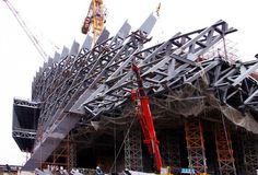 Image 3 of 7 from gallery of In Progress: Dalian International Conference Center / Coop Himmelb(l)au. © Coop Himmelb(l)au Dalian, Architecture Details, Interior Architecture, Civil Construction, Space Frame, Interesting Buildings, Metal Structure, Himmelblau, Zaha Hadid